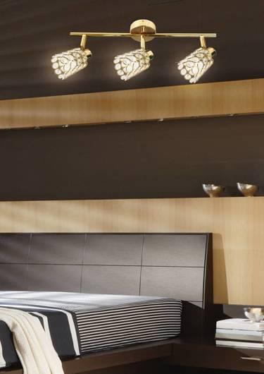 Lampa ścienna listwa 3X40W G9 mosiądz YORK 93-70111