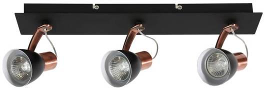 Lampa ścienna listwa 3X50W GU10 czarny/miedź MARKUS 93-35608-M