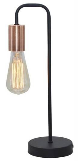 Lampa stołowa nocna czarna oprawka bez klosza Herpe Candellux 41-66862