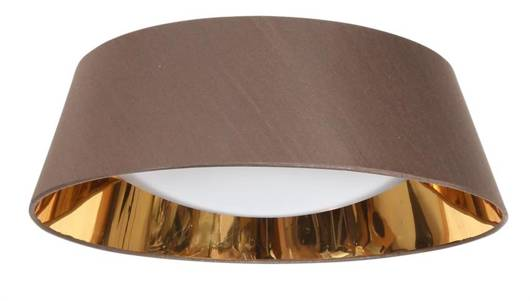 Lampa sufitowa LED biały zimny 16W brązowy abażur Mola Candellux 31-41500