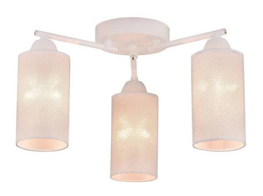 Lampa sufitowa biała metalowa potrójna 3x40W E14 Indira Candellux 33-57402