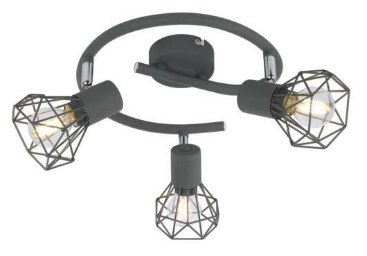 Lampa sufitowa spirala 3X40W E14 matowy szary VERVE 98-60990