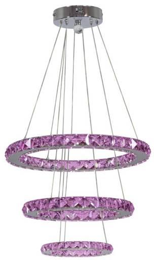 Lampa wisząca 3 okręgi z kryształkami LED RGB + pilot Lords Candellux 33-63090
