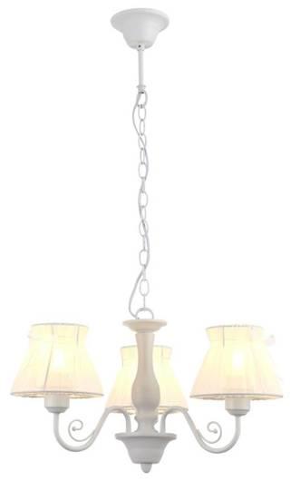 Lampa wisząca biała abażur z organzy 340W E27 Zefir Candellux 33-73792