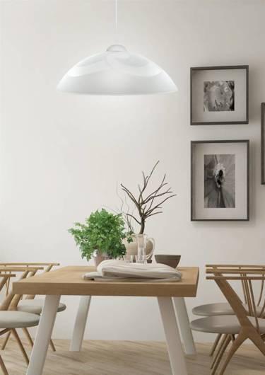 Lampa wisząca biała szklana 30cm Monti 31-54234