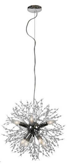 Lampa wisząca kula chromowa 8x40W z koralikami Capella Candellux 31-69719