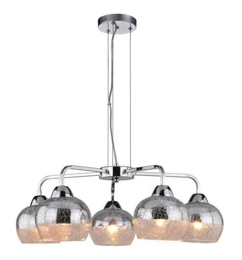 Lampa wisząca lustrzana chrom bite szkło 3x60W Cromina Candellux 35-56375
