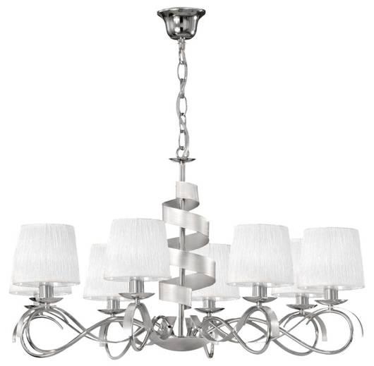 Lampa wisząca żyrandol chrom 8x40W regulowany Denis Candellux 38-23452