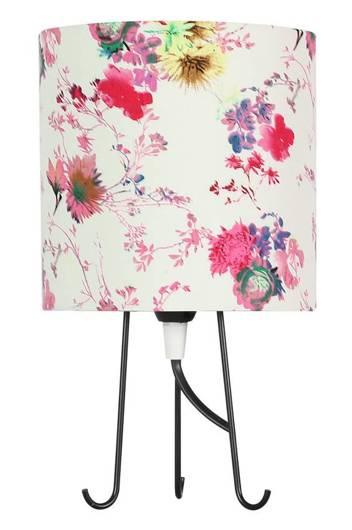 Lampka stołowa gabinetowa różowe kwiaty 40W E14 Micra 41-34731
