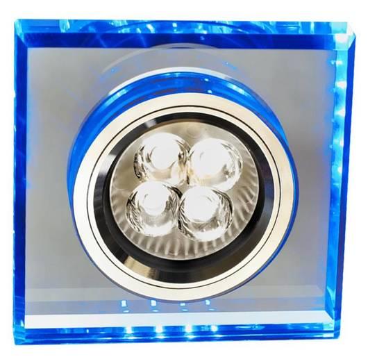 Oprawa stropowa kwadrat niebieski LED oczko GU10 SS-22 Candellux 2226934